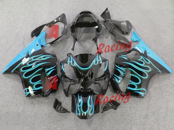 New Bodywork ABS fairings Kits Fit for HONDA Injection molded CBR 600 F4i FS 01 02 03 CBR600 2001 2002 2003 fairing kits cool sly blue flame