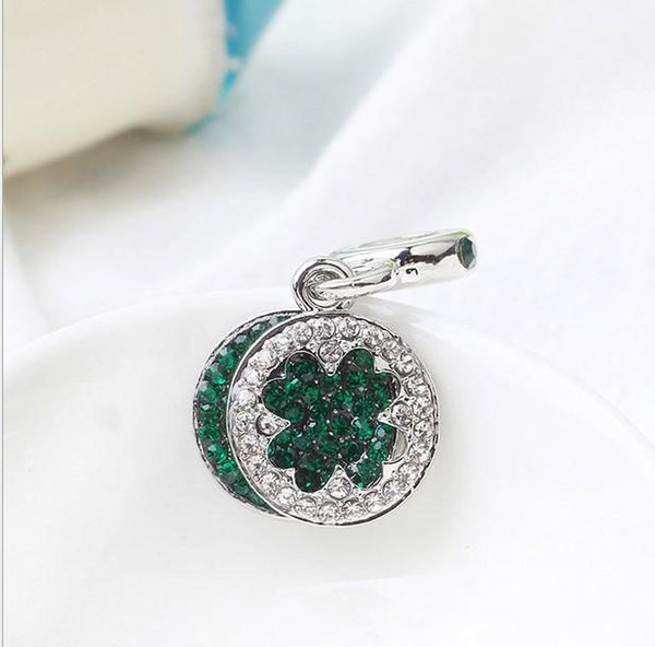 Fit Pandora Charm Bracelet European Bead Charms Four Leaf Clover Beads 925 DIY cadena de la serpiente para las mujeres del collar del brazalete de la joyería