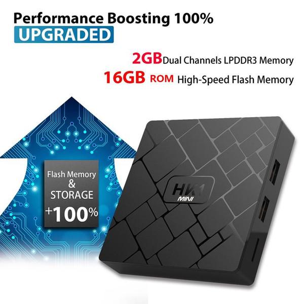 HK1 mini SMART TV BOX all'ingrosso Android 8,1 GB 16 GB Amlogic S905W Quad-core corteccia-A53 Set Top Box 4K IPTV HDMI Media Player andriod tv box
