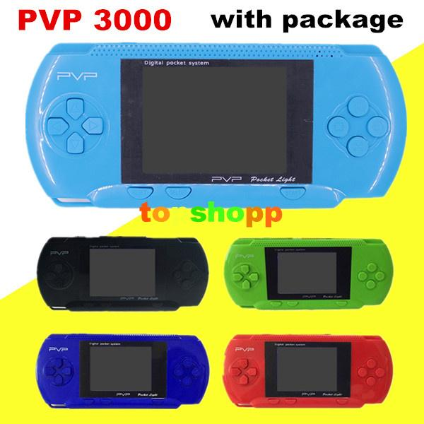 best selling PVP3000 Game Player PVP Station Light 3000 (8 Bit) 2.7 Inch LCD Screen Handheld Video Game Player Console Mini Portable Game Box Dhl