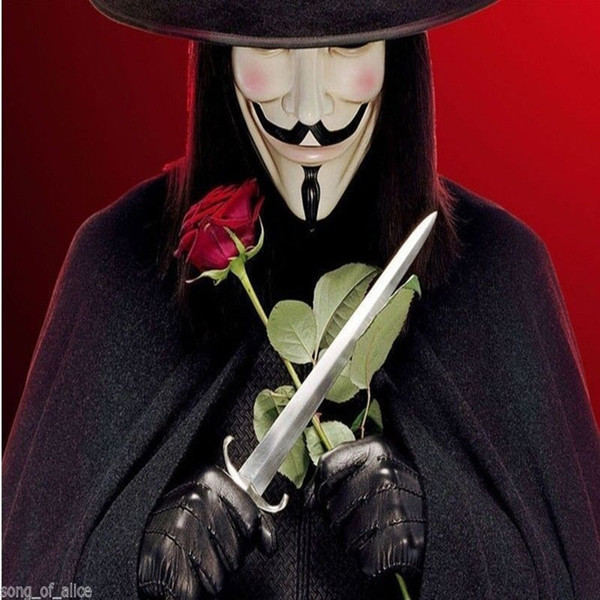 V for Vendetta Mask Guy Fawkes Fancy Dress Party Cool Halloween Costumes Masquerade Party Face Mask