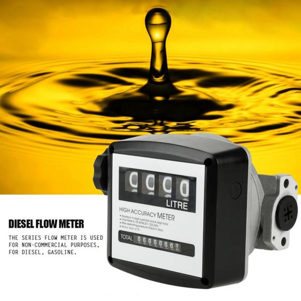 Medidor de flujo mecánico FM120 Medidor de flujo de gasolina y gas diesel de 1 pulgada 4 Digital Medidor de flujo mecánico de alta precisión