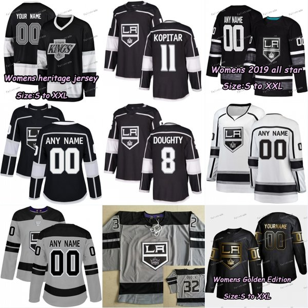 best website e3f01 eeb44 2019 Womens Lady Los Angeles LA Kings Jersey Anze Kopitar Dustin Brown Alex  Iafallo Drew Doughty Jack Campbell Kovalchuk Carter Jonathan Quick From ...
