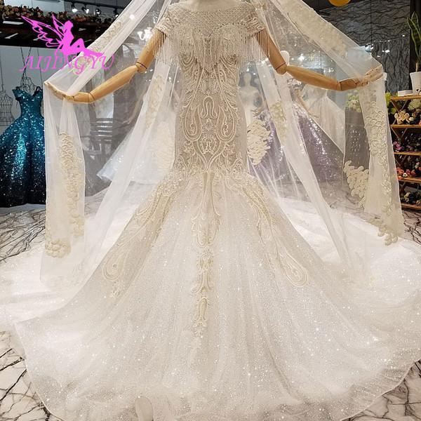 Toptan Satın Al Gelinlikler Online Kıyafeti Rhinestone Çiçek Suzhou Aşk Sezon Aksesuarları Elbise Gelinlik Gelinlik Dubai'de