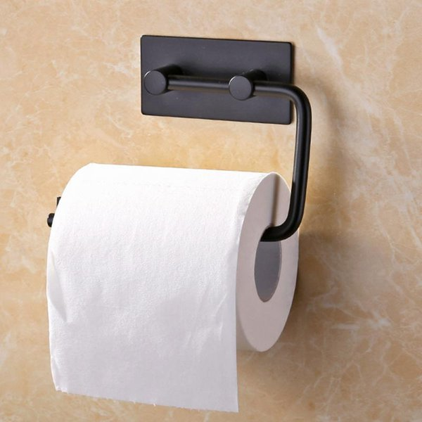 Stainless Steel Self-adhesive Toilet Paper Holder Bathroom Kitchen Roll Paper Towel Dispenser Tissue Hanger T190708