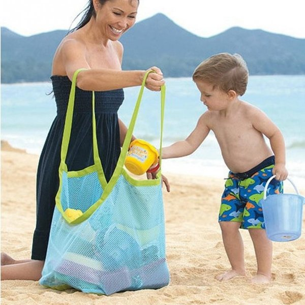 Big Capability Beach Bags Women Messerger Bag Kids Toy Collection Pouch Tote Mesh Bag Mom Baby Kids Children Portable Bags #1227 #547962