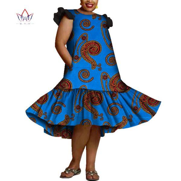 2019 летние африка платья для женщин vestidos кружева с принтом ткани шить африка одежда оборками африканская одежда WY3693