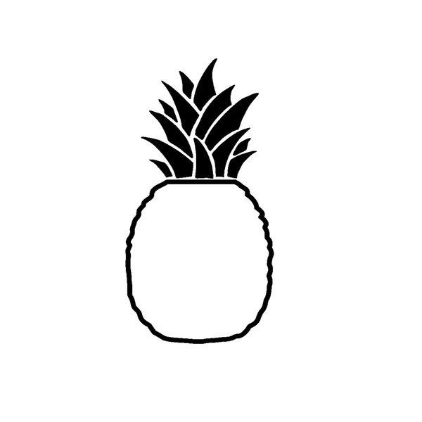 Be a Pineapple Stand Tall Wear a Crown Cute And Interesting Fashion Sticker Decals