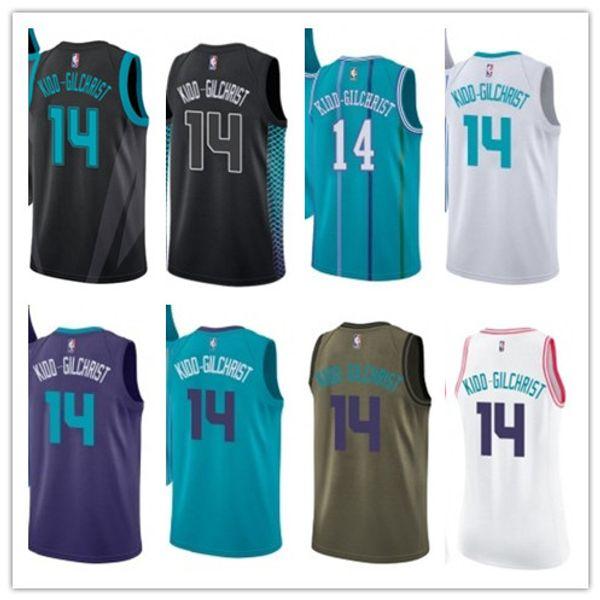 2019 баскетбольного Hornet 14 Кидд-Гилкрист Новым в магазине Fan издание Мужчины женщины молодежи вышивки баскетбольного Джерси