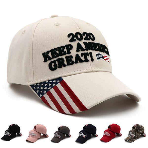 Donald Trump Baseball Cap outdoor embroidery KEEP America Great hat sports cap stars striped USA Flag Cap Snapback LJJA3686-2