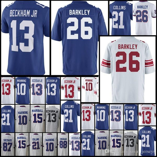a977ef5cc New York Giants Jersey Mens 26 Saquon Barkley 13 Odell Beckham jr 10 Eli  Manning 21