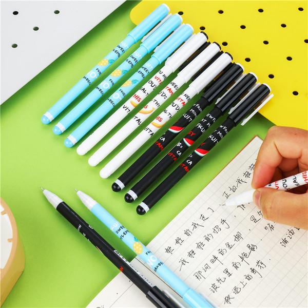 12 UNIDS 0.5mm Creativo Lindo Plástico Gel-tinta Pluma Kawaii Gel Colorido Conjunto de Plumas de Regalo de Oficina de Escuela Material Escolar de Regalo 04265