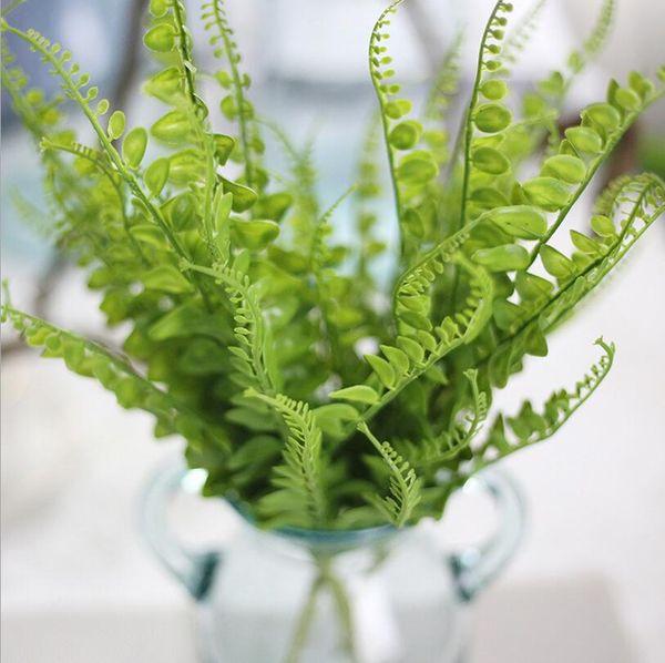 Decorativo planta artificial flor artificial decoración de la boda flor de la hierba florero en casa directo de fábrica suministros para la fiesta
