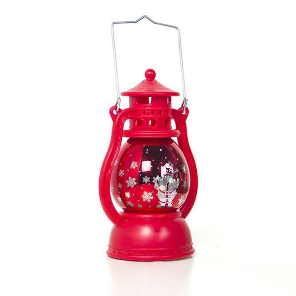 Christmas Decoration Wind Light Creative Christmas Printing Small Oil Lamp Decoration Laser Small Horse Light Pendant