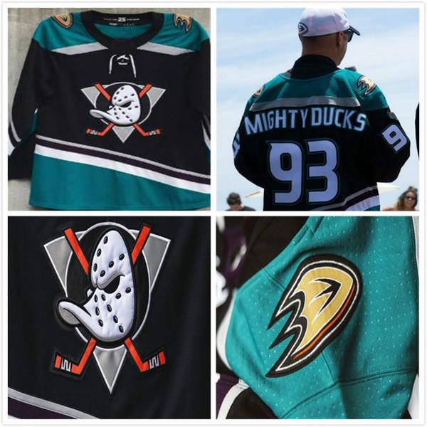 25a stagione 93 Mighty Ducks 15 Ryan Getzlaf Perry Kesler Teemu Selanne Paul Kariya 2018 Anaheim Ducks Mighty Retro maglie personalizzate per hockey