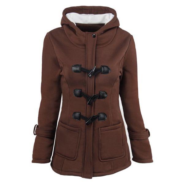 Hooded Parkas Female Women Winter Coat Thicken Cotton Blending Jacket Womens Outwear Parkas for Overcoat Female Hooded Coat
