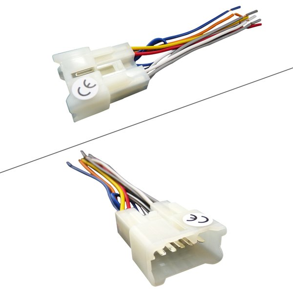 LEEWA Car OEM Audio Stereo Wiring Harness Adapter For Toyota/Scion on chevy trailblazer stereo harness adapters, radio harness adapters, car audio harness adapters, car stereo adapters, stereo wiring harness kit, stereo wiring harness color codes,