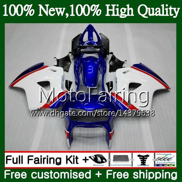 Körper für HONDA Blau Weiß Interceptor VFR800RR 02 03 08 09 10 11 12 69MF16 VFR800 RR VFR 800 RR 2008 2009 2010 2011 2012 Verkleidung Karosserie