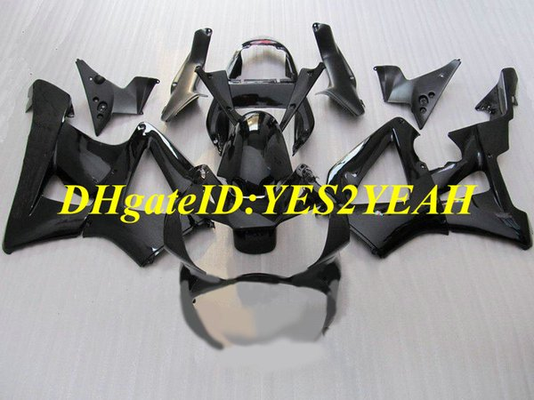 Injection mold Fairing kit for Honda CBR900RR 929 00 01 CBR 900RR CBR900 2000 2001 ABS All gloss black Fairings set+Gifts HZ39