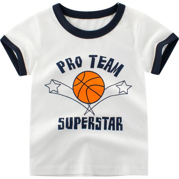OKLADY 2019 Sommer Baby T-shirt Brief Basketball Pro Print Top Kleinkind Jungen Mädchen Baumwolle Weiche Günstige Kinder Marke Kleidung 12 Mt 1-10 T
