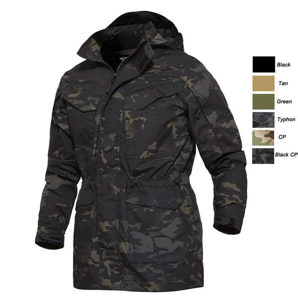 Vêtements de plein air Chasse Tir Woodland Manteau Combat tactique d'hiver Vêtements camouflage coupe-vent tactique extérieur M65 Veste NO05-216