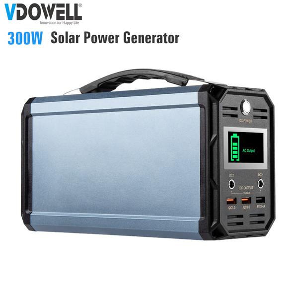 Centrale elettrica portatile 300Wh con batteria al litio Uscita AC 110 / 220V, DC 12V, USB QC3.0 per Camping Travel Home Emergency
