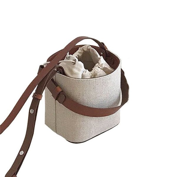 Neue Bucket Bag Strandhandtasche Weave Koreanische Version Schulter Messenger Bag Portable Crossbody