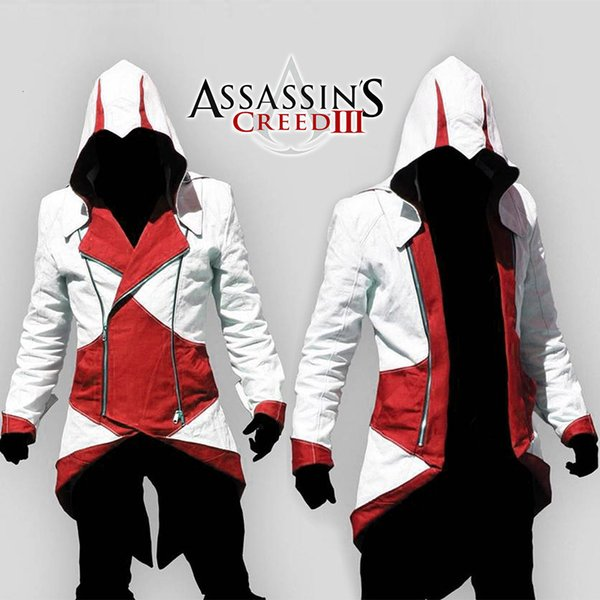 assassins creed Halloween Costume Adult Men Casual Streetwear HoodedOutwear Costume Edward assassins creed cosplay Jacket Coats T190917