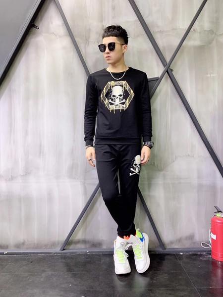 Alta nuovo autunno di arrivo degli uomini di modo tuta comoda e alla moda ricamo Sportswear Taglia M-4XL