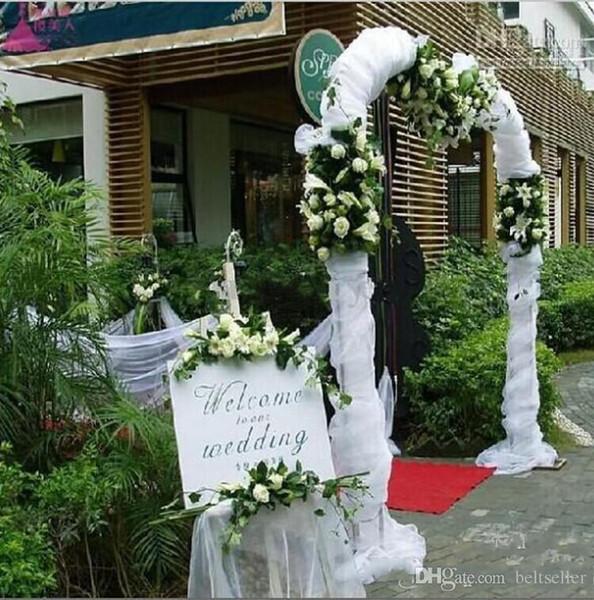 11 цветов моды ленты Рулон органза Тюль Пряжа стул Обложки Аксессуары для свадебных Backdrop занавеса Художественные оформления Supplies