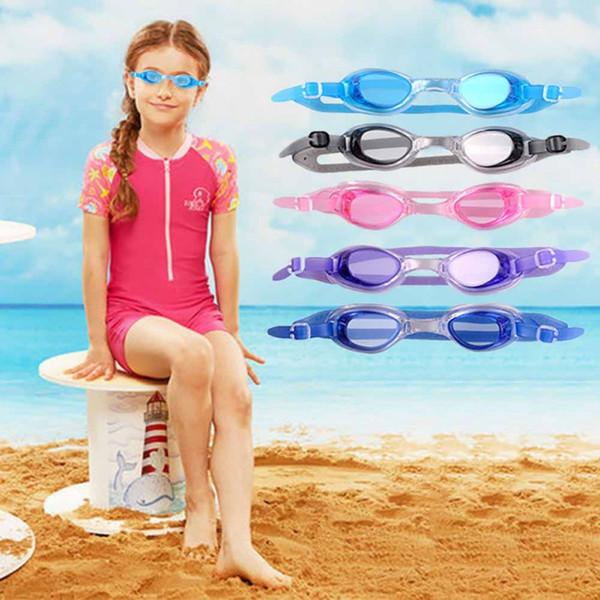 Kids Sports Swim Glasses Water Eyeglasses colorful types outdoors pool tools Waterproof soft children Adjustable Swimwear Ear Plugs QQA439