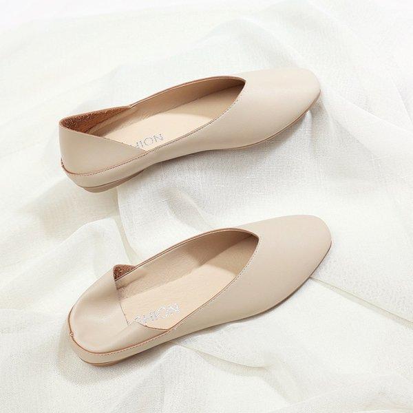 Free2019 Flat Bottom Square Single Shoe Two Clothes Shallow Mouth Pregnant Woman Grandma Semi Trailer Fairy Dawdler Shoes