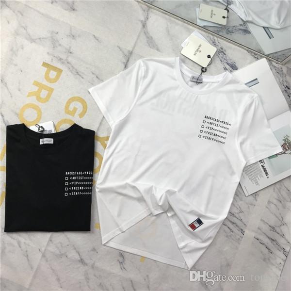 19ss Neue Ankunft Mengkou BACKSTAGE Tshirts Crewneck Kurzarm Sommer T Atmungsaktive Weste Shirt Streetwear T-shirt Outdoor