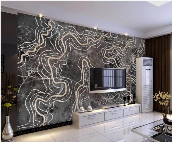 duvarlar için mermer kabartma sanatı tv arka plan duvar kağıdı oturma odası için 3 d