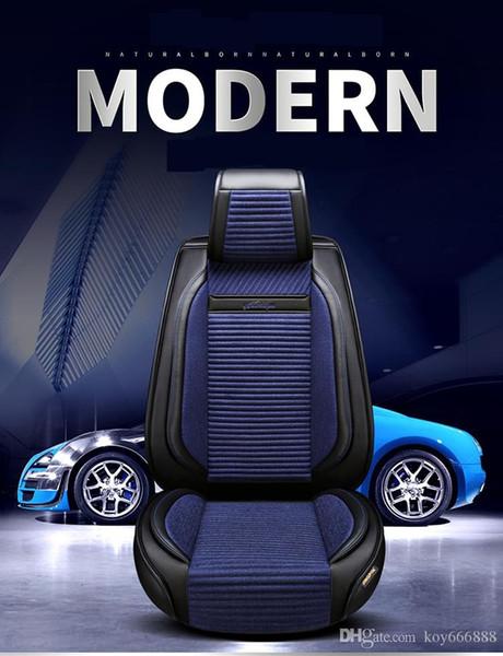 2019 nouveau modèle de coussin de voiture quatre saisons bleu, noir, gris, beige atmosphérique de luxe haut de gamme, modèle universel