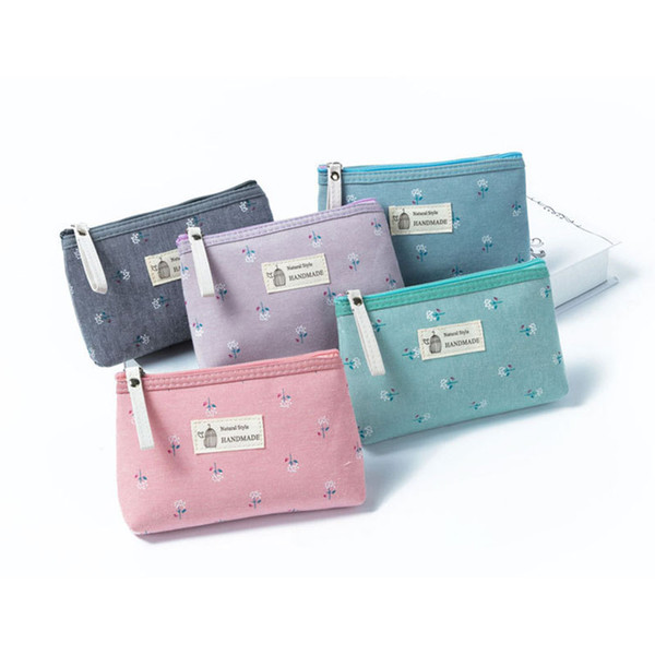 2019 New Summer Card Holder Wallet Purse Bag Coin Purses Casual Lady Fashion Cute Pattern Floral Dollar Money Bag For Dropship