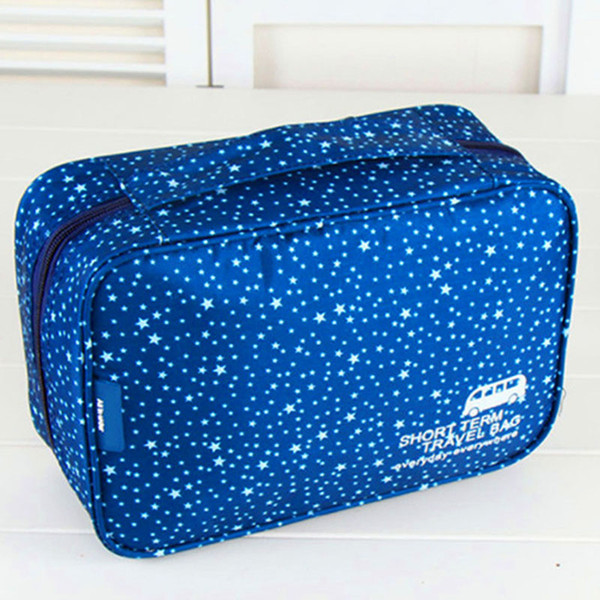 New Hot Sale Casual Oxford Cosmetic Bag Women Flower Travel Toiletry Bag Wash Shower Makeup Beauty Organizer Portable
