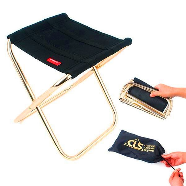 Admirable Folding Chair Aluminum Alloy Portable Folding Stool Camping Stool Fish Chair Camping Chair With Carry Bag Picnic Chairs Clearance Patio Furniture From Pdpeps Interior Chair Design Pdpepsorg