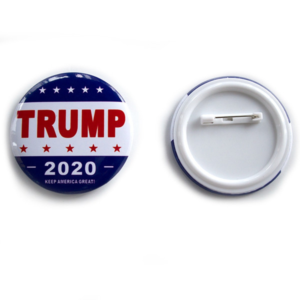 top popular Trump 2020 Metal Brooch 2020 America President Republican Campaign Tinplate Pins Badge Coat Jewelry Brooches Party Favor Gift VT0427 2021