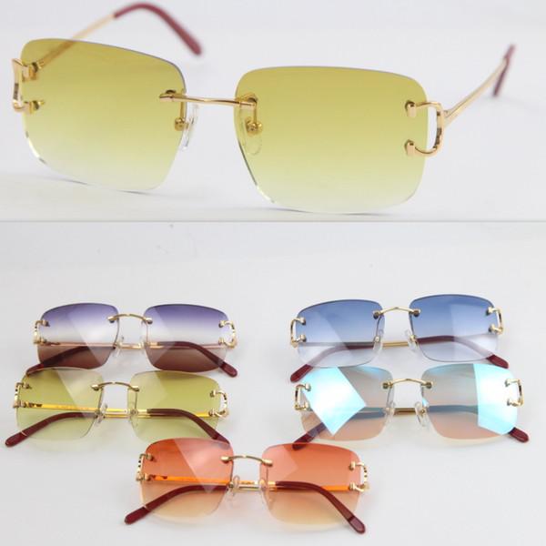 top popular 2020 popular new Style Rimless SunGlasses Hot T8200816 delicate Unisex Fashion glasses Metal Sun Glasses driving glasses C Decoration Hot 2021
