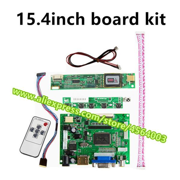 15.4 pouces 1280 * 800 50pin TTL LVDS Controller CLAA154WA01AQ écran LCD moniteur contrôle de la carte de pilote HDMI VGA 2AV Module kit