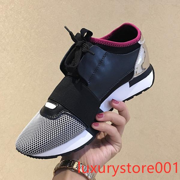 Designer Sneakers Race Fashion Casual Shoes Trainer Womens Mens Designer Breathable Mesh Shoes With Box 4sda