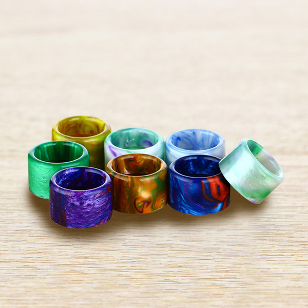 top popular For TFV16 Drip Tip Epoxy Resin Mouthpieces Fit TFV16 King Sub Ohm 9ML Vape TANK Atomizer Ecig DHL Free 2021