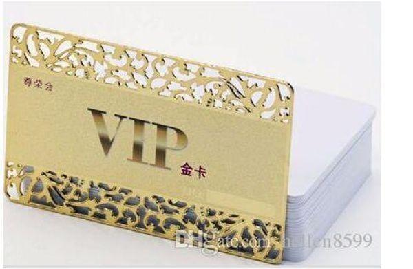 Großhandel Customized Einzigartiges Aushöhlen Design Gold Mitgliedschaft Vip Visitenkarte Von Hellen8599 150 76 Auf De Dhgate Com Dhgate