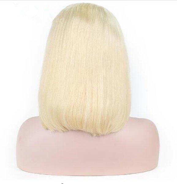 Ombre 613 Blonde Short Bob Wig Lace Front Human Hair Wigs Middle Part Natural Hairline Remy Brazilian