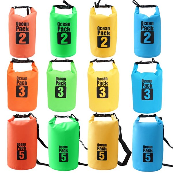 2L 3L 5L Waterproof Bags Dry Bag Water Resistant Swimming Storage Bag for Outdoor Kayak Canoe Rafting Upstream Pouch New
