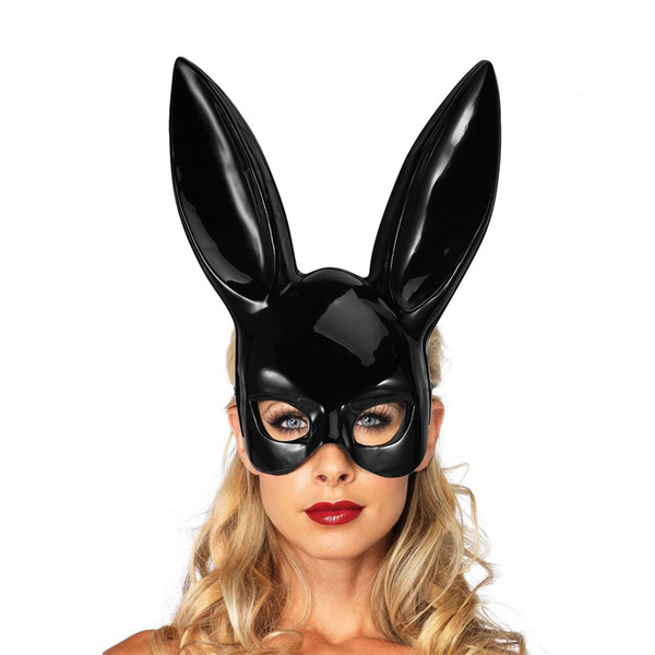 Christmas Masquerade Rabbit Mask Sexy Bunny Girl Club Party Theme Costumes Classic Womens Halloween Costume Accessories