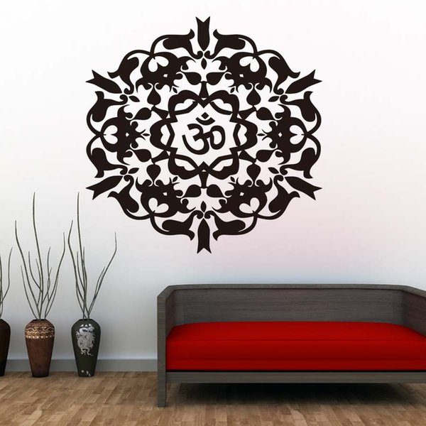 1 Pcs Yoga Mandalas Wall Stickers Indian Style Removable Vinyl Wall Decal DIY Art Wallpaper For Living Room Home Decor