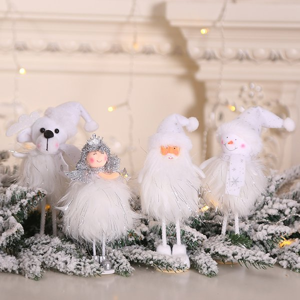 Christmas Gifts decorations new silver plush toys standing action figures window snowman display items hot kids toys