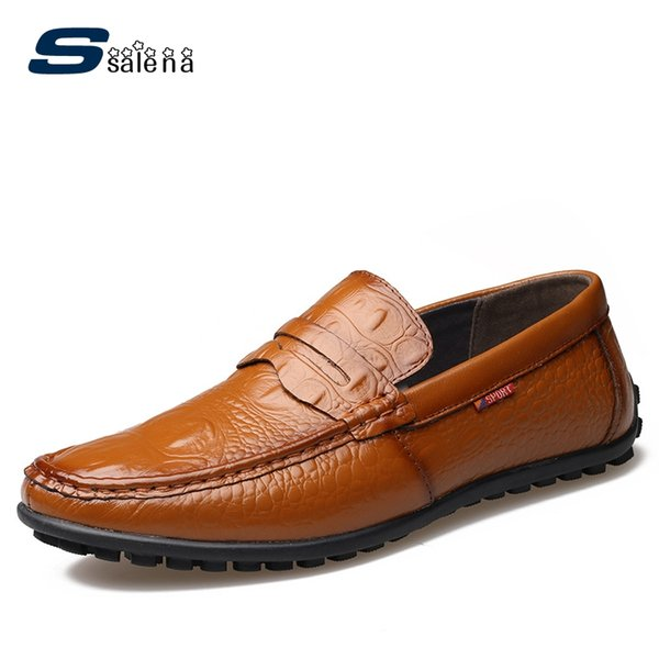 Formal Business Shoes Men New Design Leather Male Working Shoes Breathable Driving For Men AA50141